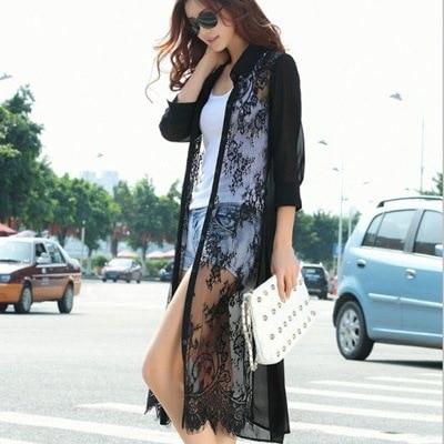 Womens 2017 Summer Sun Protection Clothing Long Lace Chiffon ...