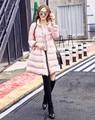 Jackect nova Moda Feminina Inverno 80% de Pato Branco Para Baixo Marca Feminina Inverno Para Baixo Casaco Grosso Casaco Quente Para Baixo Outwear JM-1606