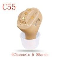 C55 Перезаряжаемые Невидимый Выполните в ухо цифровой слуховой аппарат 6 каналов 8 bands USB Перезаряжаемые CIC слуховые аппараты Dropshipp