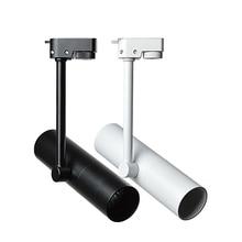 Светодиодный Трековый светильник с регулируемой яркостью 10 Вт 12 Вт Epistar чип точечный светодиодный светильник s 4000 к 6000 К магазин одежды коммерческое Внутреннее освещение белый черный