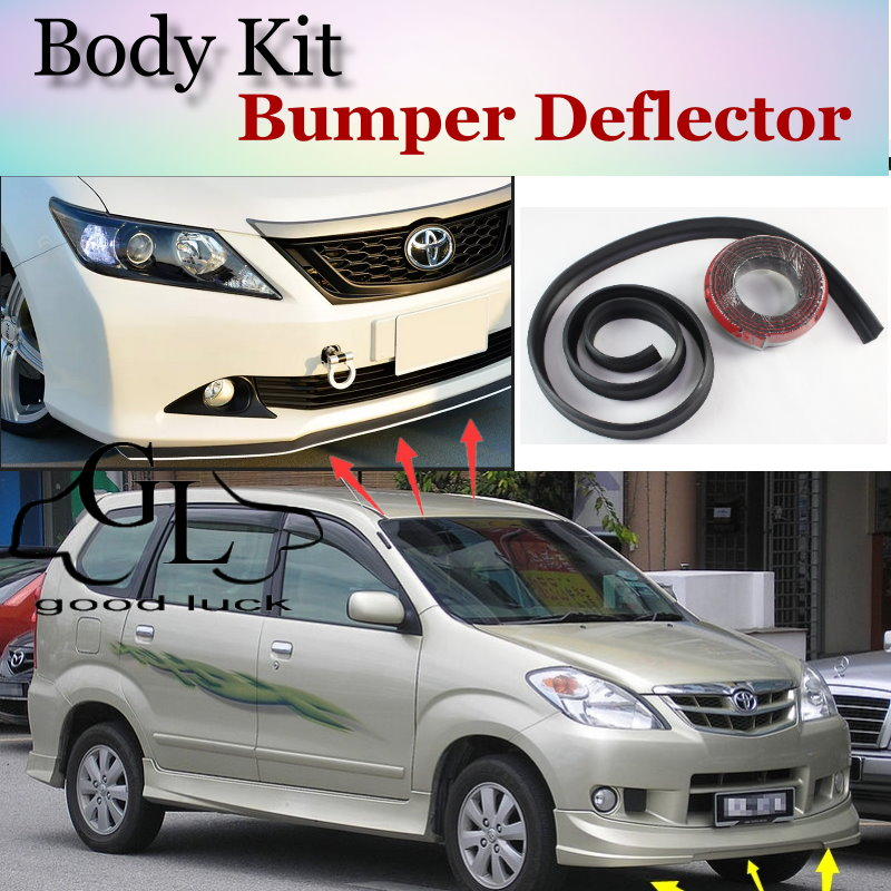 grand new avanza bodykit fog lamp for toyota daihatsu xenia bumper lip front spoiler scratch proof adhesive topgear body kit strip skirt