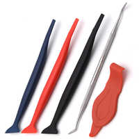 5PCS Scraper Car Stickers Corner Decorate for Window Tint Application Wrap Tuck Car Tools Gasket Micro carbon fiber Squeegee
