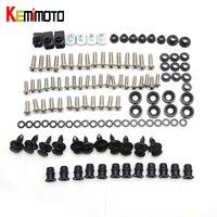 KEMiMOTO Motorcycle Fairing Bolt Screw Fastener Fixation For Honda CBR600RR CBR 600RR 2003 2004 2005 2006