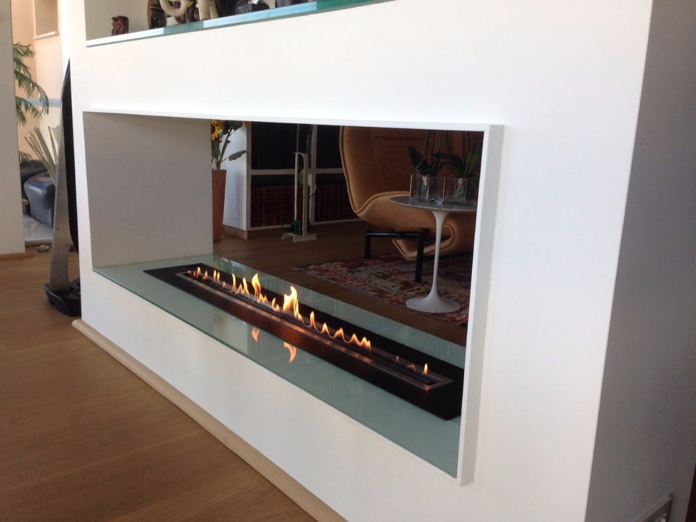 On Sale 48'' Kamin Fireplace With Bio Fuel Burner