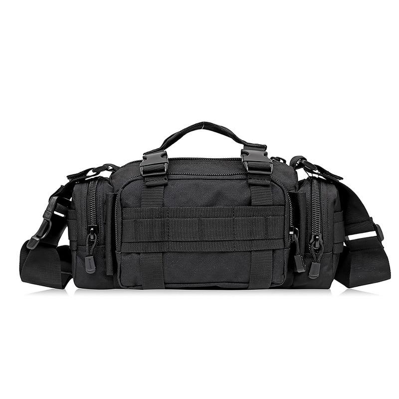 Waterproof Nylon Men Military Shoulder Crossbody Messenger Tote Bag Travel Handbag Multifunction Hip Belt Vintage Waist Pack Bag