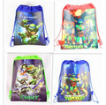 1pic Tortugas Teenage Mutant Ninja Turtles Niños Bolsas Escuela Niños Mochila y Bolso de Lazo Para boys & girls 8 Colores opcional