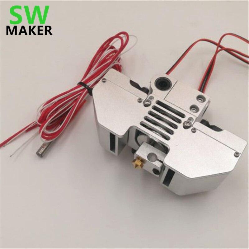 SWMAKER V6 Jhead Extruder Mount Kit Perfect For UM2 Ultimaker2+ 3D Printer Print Head Hot End Kit 6MM Smooth Shaft