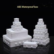 ABS пластик IP65 водонепроницаемая распределительная коробка DIY наружная электрическая Соединительная коробка кабельный филиал коробка распределительная коробка питания