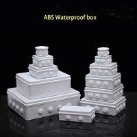 Groothandel Abs Plastic IP65 Waterdichte Junction Box Diy Outdoor Elektrische Aansluiting Doos Kabel Tak Doos 100x100x70mm