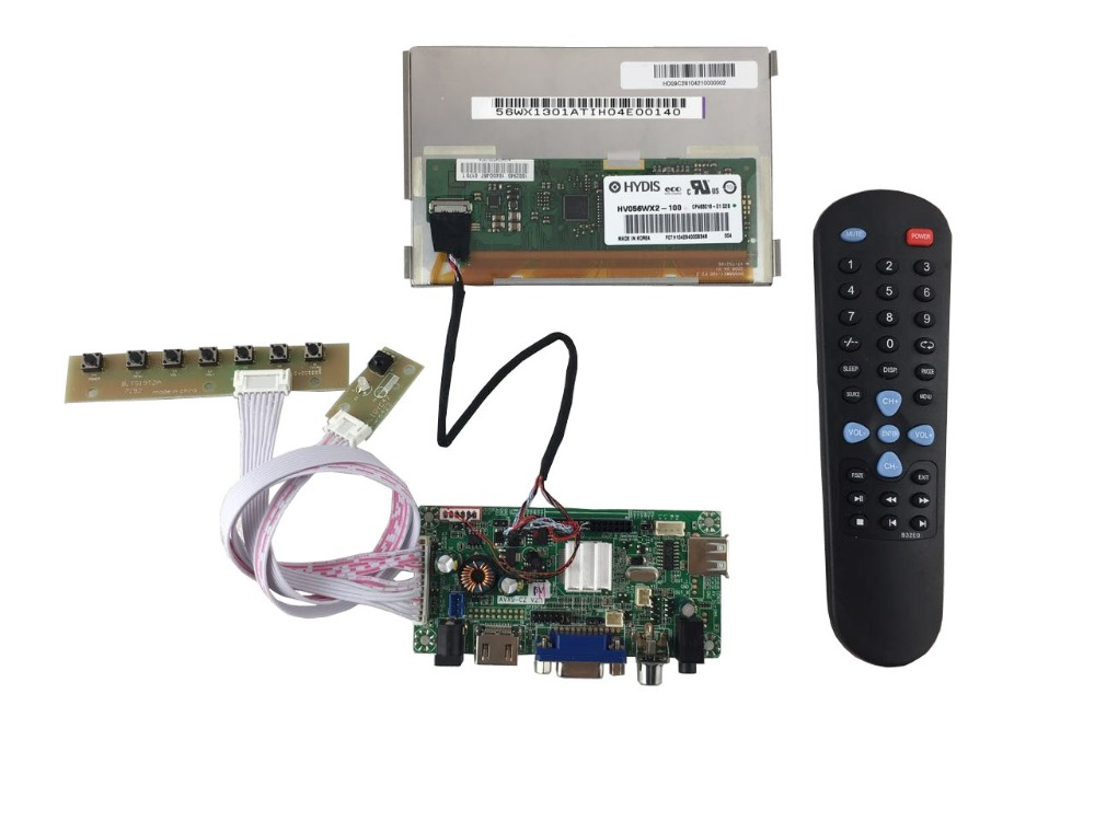 все цены на HDMI+VGA +Audio+  LCD driver  board+5.6 inch lcd module HV056WX2-100(1280*800) +LVDS cable +OSD keypad with cable онлайн