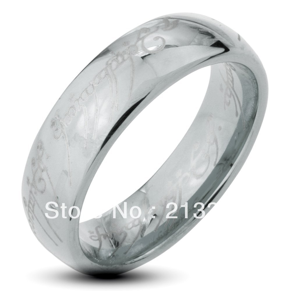 free shipping buy cheap discount price usa hot selling 6mm menwomens silver lord of the ring the lotr tungsten wedding rings
