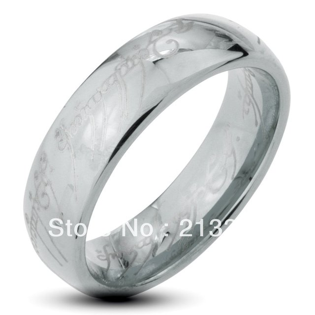 Free Shipping Buy Cheap Discount Price USA HOT Selling 6MM Men&Womens Silver Lord Of the Ring THE LOTR Tungsten Wedding Rings