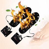 2 шт Открытый USB Электрический нагрев стельки держать ноги теплым батарея питание стелька для обуви с подогревом зимние теплые тепловые под...