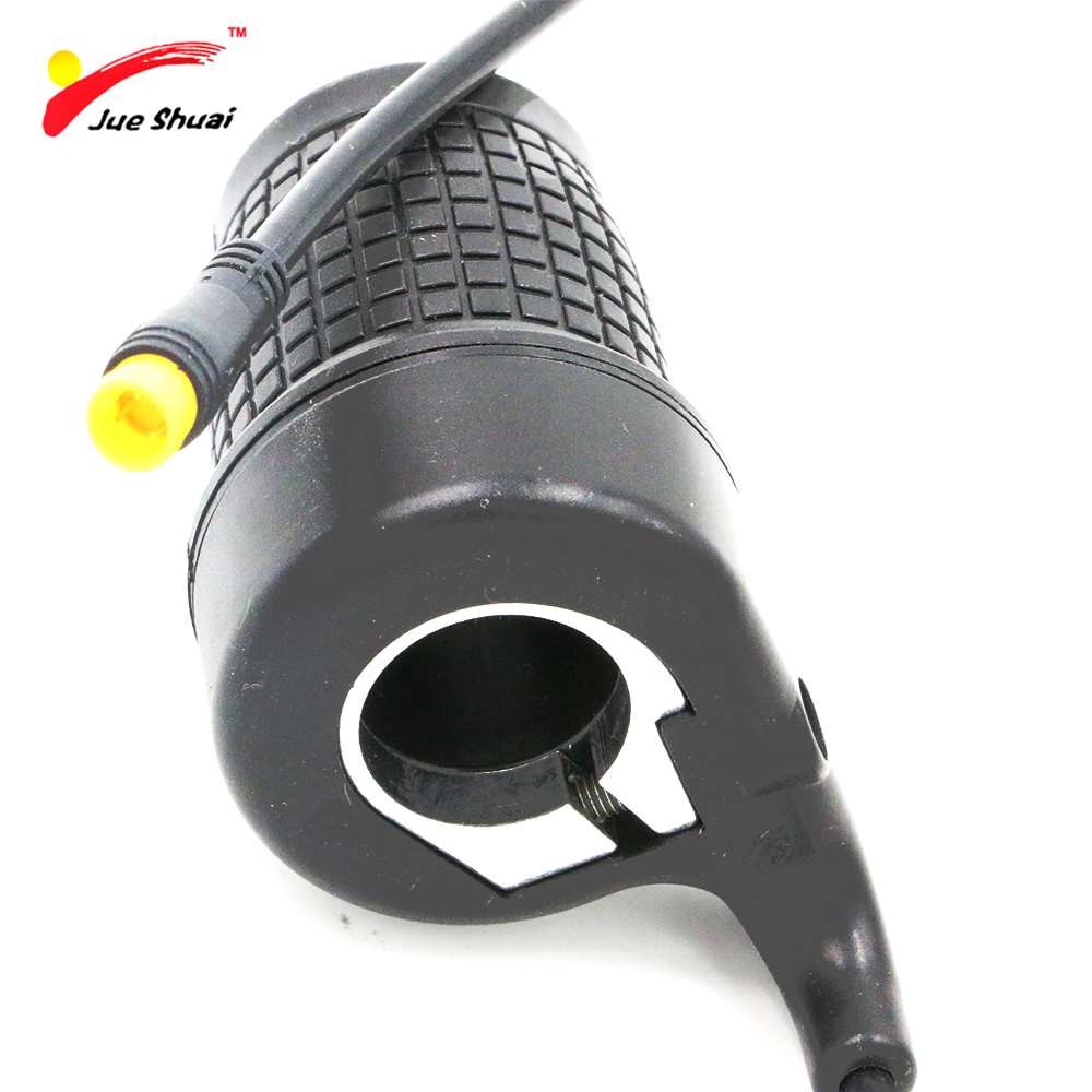 Half Twist Throttle for Electric Bike Black Universal Motorcycle Accelerator Grips Handlebar Ebike Electric Bicycle Throttle