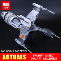 Lepin 05045 New 1487Pcs Genuine Star War Series The B Wing Starfighter Building Blocks Bricks Educational