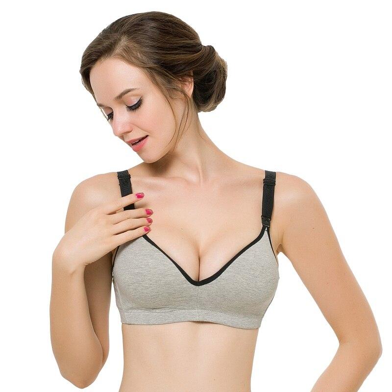 ebaace183e7 Sexy Women Pregnant Underwear Cotton Maternity Nursing Bra Push Up Breast  Feeding Bra J2