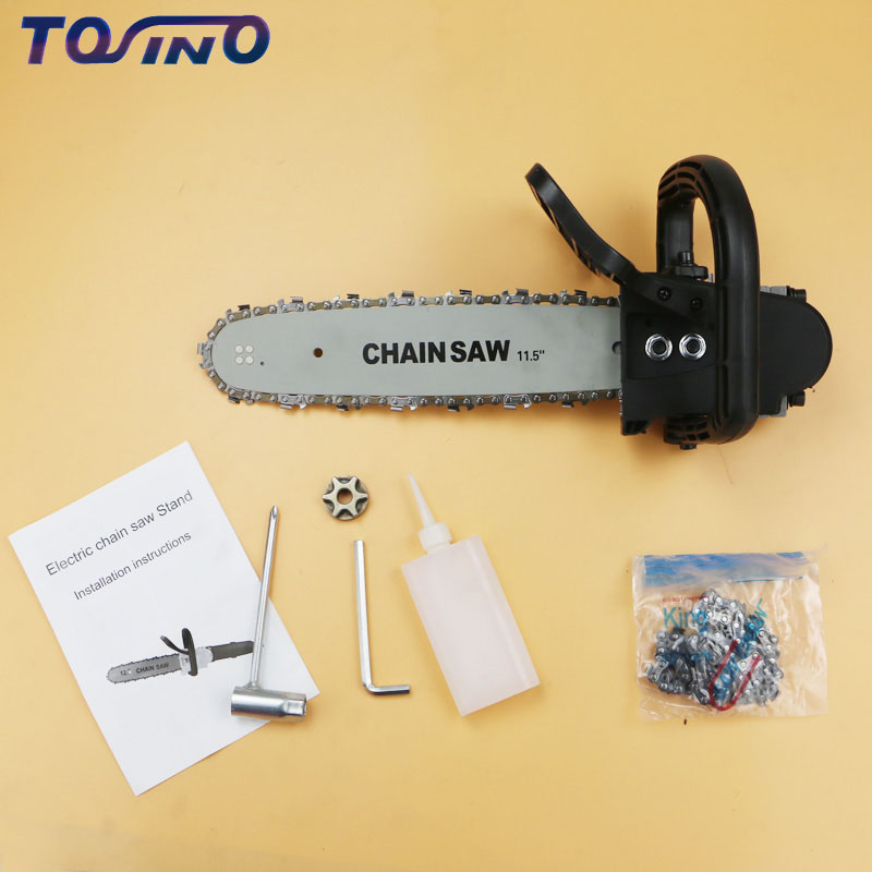11.5 Inch Chainsaw Bracket Changed 100  Angle Grinder Into Chain Saw Woodworking Tool Power Tool Accessories 220V11.5 Inch Chainsaw Bracket Changed 100  Angle Grinder Into Chain Saw Woodworking Tool Power Tool Accessories 220V