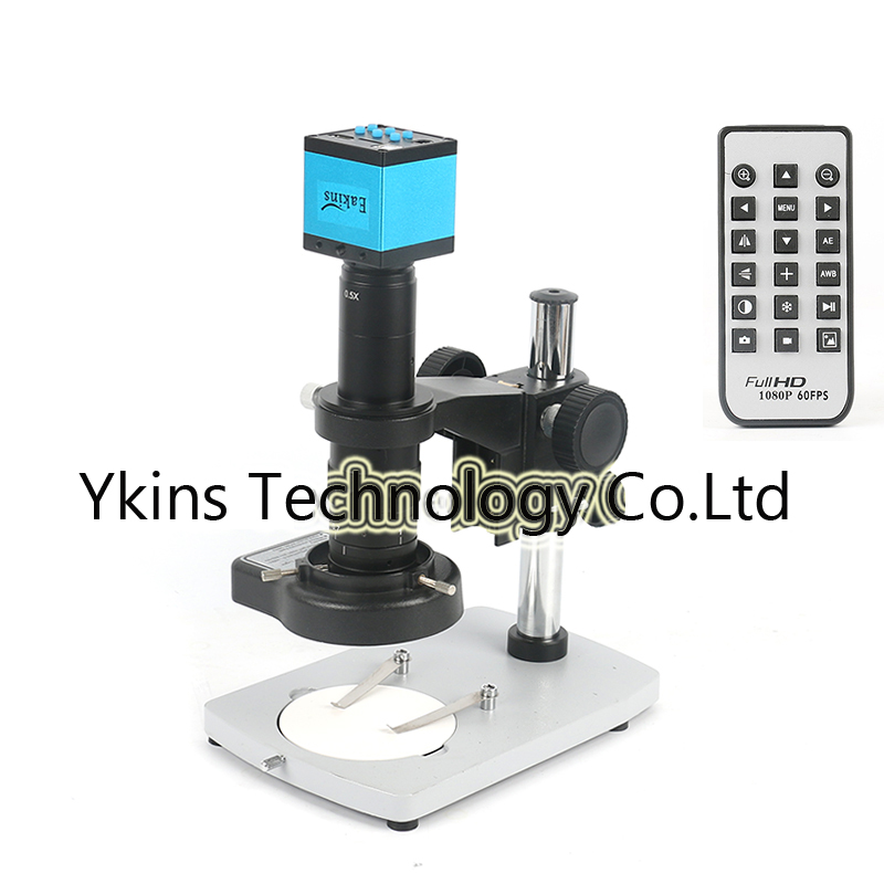 HD 16MP 1080P Industrial Digital Video Microscope Camera + Metal Stand + 144 LED Ring Light + 180X C-MOUNT Lens for PCBHD 16MP 1080P Industrial Digital Video Microscope Camera + Metal Stand + 144 LED Ring Light + 180X C-MOUNT Lens for PCB