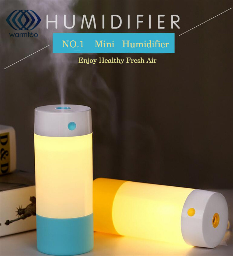 250ML USB Ultrasonic Air Humidifier Anti-dry Air Mist Maker Aroma Diffuser Mute Night Light Portable Humidifier For Car Home night light desktop mini portable automatic power off humidifier air humidificador mist maker usb diffuser