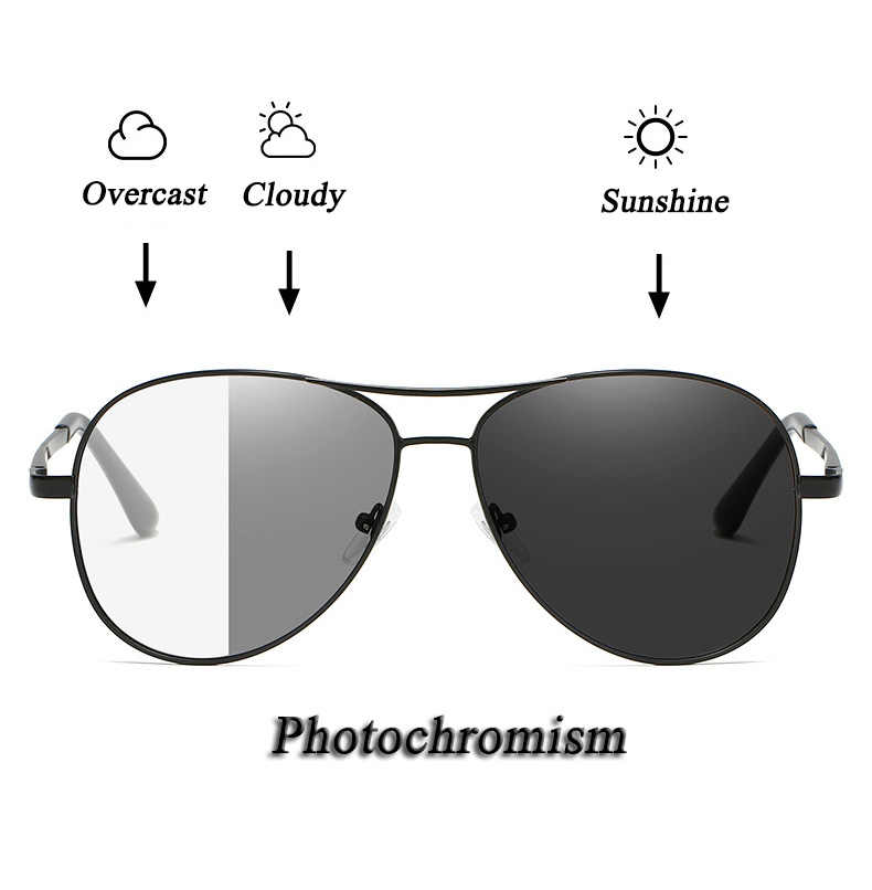 Fotocromismo óculos de Sol Das Mulheres dos homens Polarizados UV400 Proteção Ciclismo Pesca Condução Óculos Esportes Óculos de Mudança De Cor