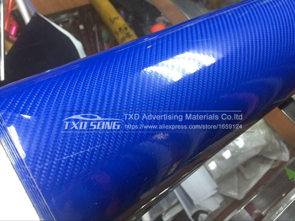 Высокое качество ультра-синий глянец 5D углеволоконная виниловая Обёрточная бумага 4D текстура супер глянцевая 5D углерода Обёрточная бумага s с 10/20 Вт, 30 Вт/40/50/60X152 см