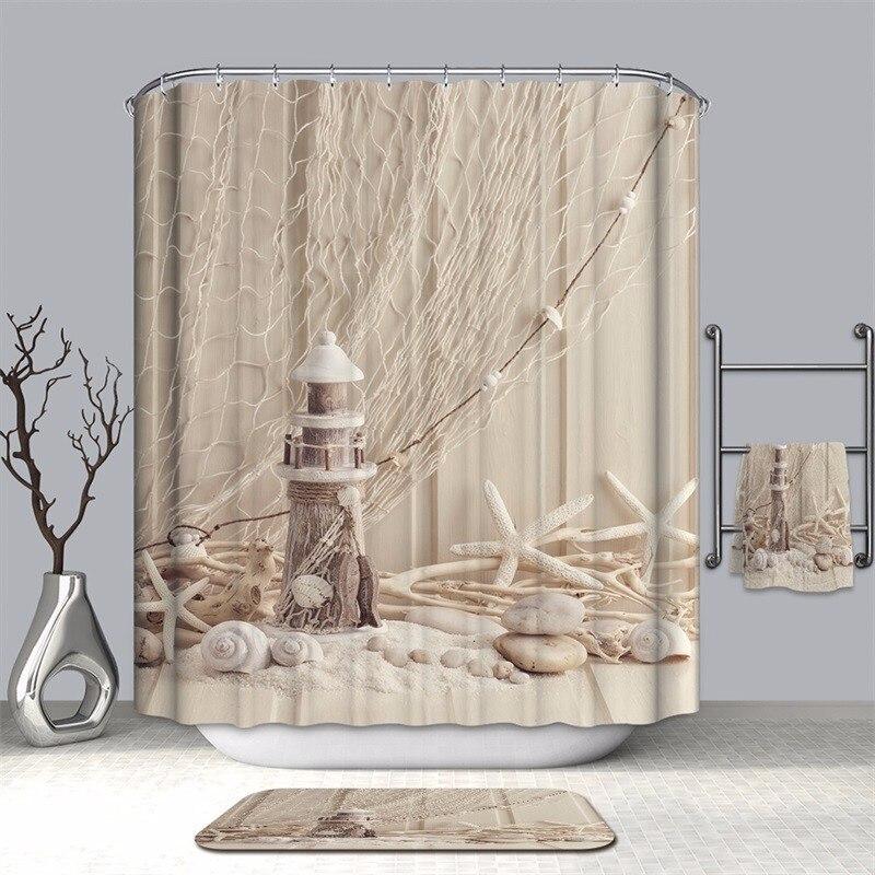 Image 5 - VOZRO bathroom shower curtain waterproof polyester 2 m cloth 3D Halloween bape douchegordijn pascoa duschvorhang farmhouse bath-in Shower Curtains from Home & Garden