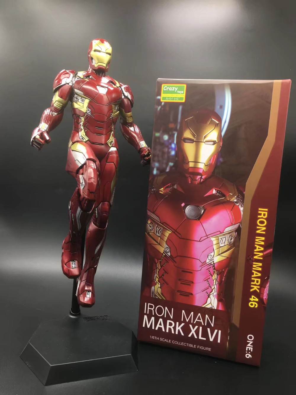все цены на Crazy Toys Iron Man Mark XLVI Action Figure 1/6 scale painted Figure Iron Man Mk46 PVC Action Figures Toy Brinquedos онлайн