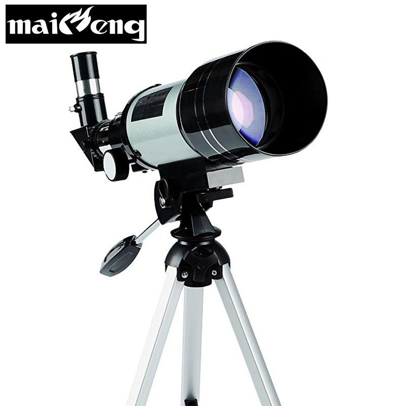 150X télescope astronomique professionnel monoculaire haute puissance F30070 HD avec trépied gratuit pour la lune