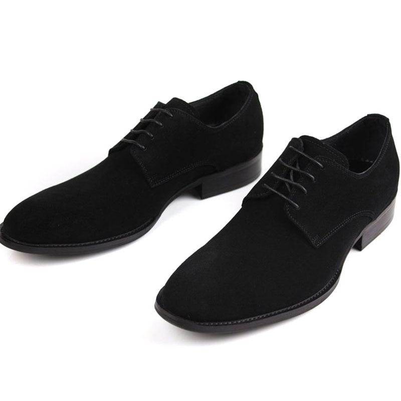 Casamento Preto Sociais Escritório Luxo Derby Moda marrom Mens Conforto De Sexo Negócios Mycolen Sapatos Do Nubuck Masculino WHzzfP