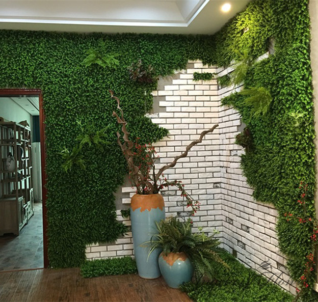 Popular artificial flower company buy cheap artificial for Interior design grass wall