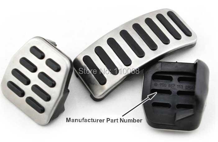 5 set /lot Stainless Car pedal for MT VW Polo Bora Lavida Skoda Golf MK4 Fabia Santana Clutch Accelerator Gas Brake pedals Pads