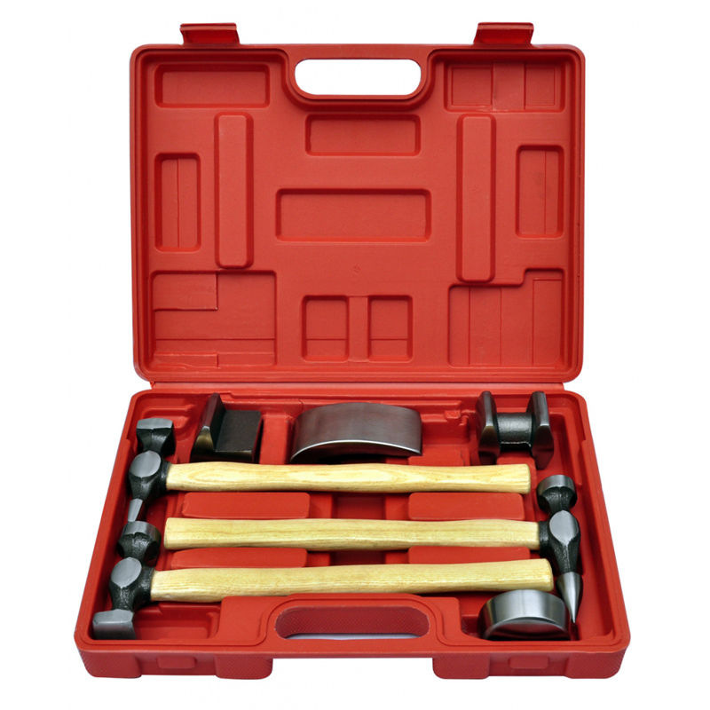 Generic 7pc Car Auto Bodywork Body Beating Beater Panel Dent Repair Tool Kit Hammer Set 147 pcs portable professional watch repair tool kit set solid hammer spring bar remover watchmaker tools watch adjustment