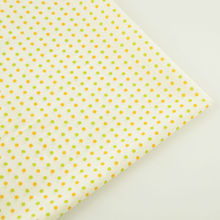 News Beige 100% Cotton Fabric Light Orange and Green Circle Designs Tecido Plain Scrapbooking Dolls Patchwork Tela Home Textile