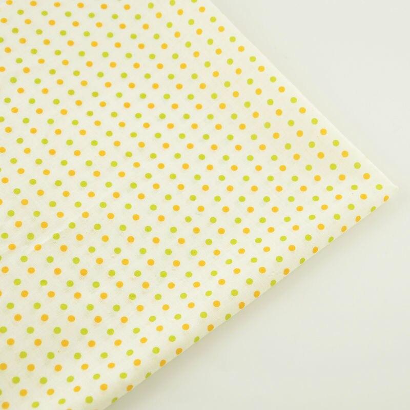 Noticias de color beige 100% algodón tela luz de orange y el círculo verde diseñ