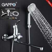 Gappo Top Brass Water Mixer Sink Faucet Wall Mount Waterfall Bathtub Faucet Bathroom Taps Torneira Grifo
