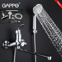 Gappo Top Brass Water Mixer Sink Faucet Wall Mount Waterfall Bathtub Faucet Bathroom Taps Torneira Grifo