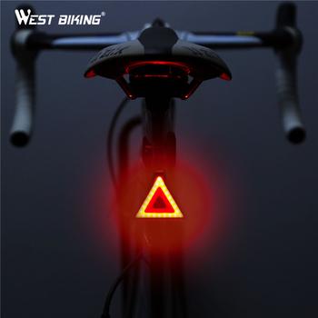 WEST BIKING światła rowerowe Taillight Bike tylne światła Tube wodoodporne led ładowane na usb ostrzeżenie bezpieczeństwa lampy rowerowe światła rowerowe tanie i dobre opinie Sztyca YP0701142A Waterproof Mountain bike light PC shell + silicone Yiwu City of Zhejiang China(Mainland) Night riding warning light
