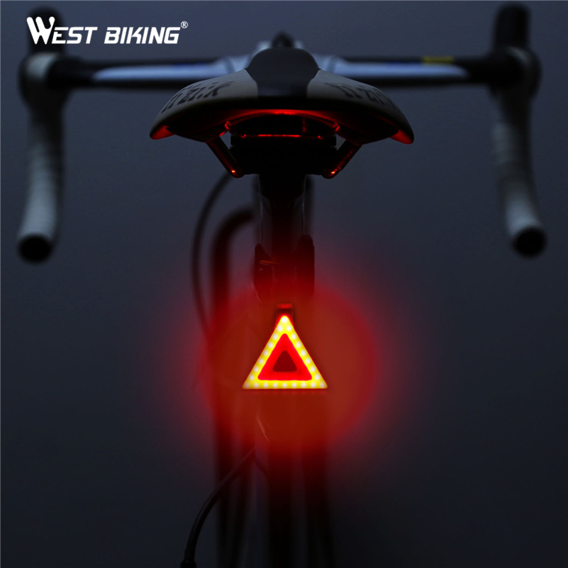 WEST BIKING Cycling Lights Taillight Bike Rear Tube Lights Waterproof USB Rechargeable LED Safe Warning Lamp Bicycle Bike Lights west biking taillight rechargeable 7 models smart usb waterproof ce rhos fcc msds certification cycling bike bicycle tail light