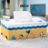 Exquisite beach style resin tissue box Mediterranean fashion tissue boxs