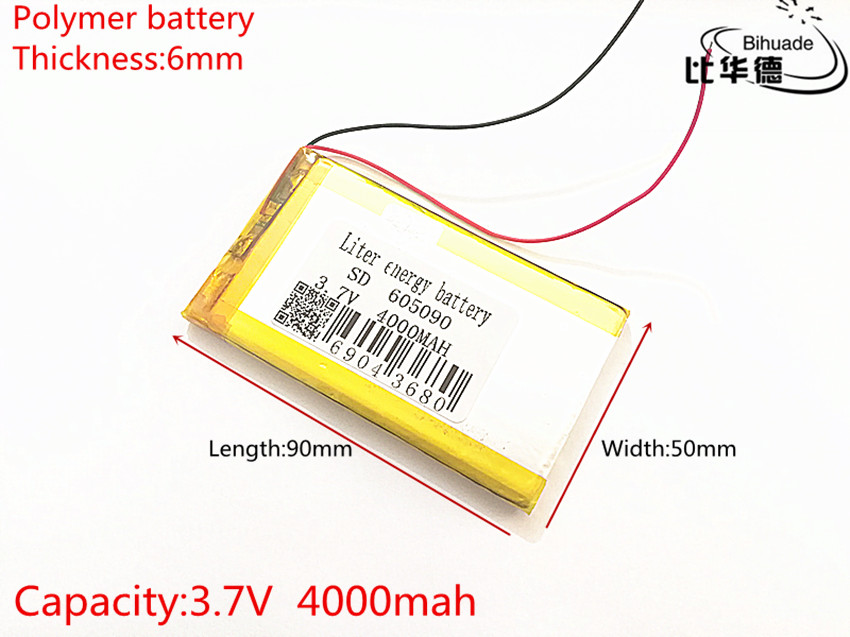 Polymer lithium ion <font><b>battery</b></font> <font><b>3.7</b></font> <font><b>V</b></font> <font><b>4000mah</b></font> 605090 can be customized CE FCC ROHS MSDS image