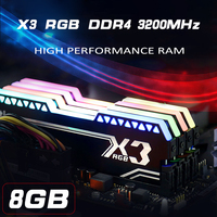 144*45.5mm X3 RGB DDR4 8G 3200MHz Desktop Game RAM 288 PIN 1.35V E sport game light strip RGB memory RAM For Desktop notebook