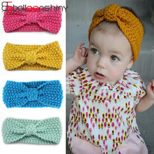 Hair-Band Crochet Baby-Girls Kids Turban Hair-Accessories Knitted Children Balleenshiny