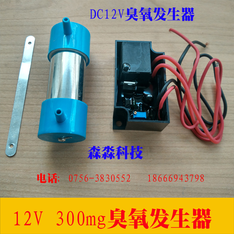 12V ozone generator ozone parts power supply ceramic chip quartz tube ozone generator 300mg ozone tube