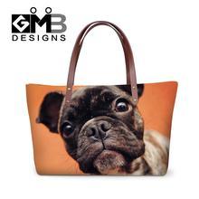 Женские сумки собака животных печати сумки через плечо милый кот большой емкости дамы плечо сумка большие пляжные сумки Bolsos Mujer(China)