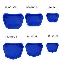 6 pcs Dental Laboratory Silicone Impression Tray Base Dental Lab Model Former Base Molds On Plaster Model Work цены