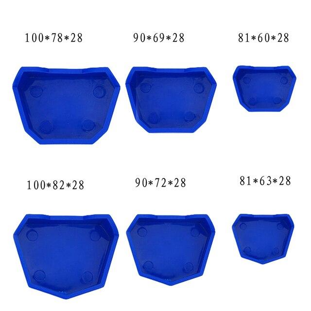 6 pcs Dental Laboratory Silicone Impression Tray Base Dental Lab Model Former Base Molds On Plaster Model Work 2017