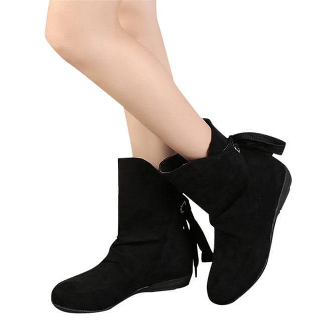 5c08acf6d 2018-Fashion-Female-Winter-Warm-Boots -Faux-Suede-Flat-Heels-Women-Roman-Lace-Up-Ankle-Short.jpg_640x640.jpg