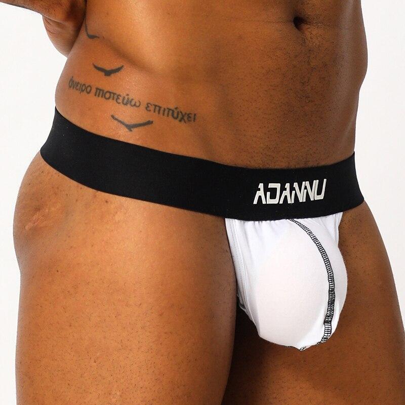 Gay Underwear Men Sexy Jock Strap Comfortable Male Thong Jockstrap Mens Thongs G Strings Sissy Lingerie Panties Under Wear AD158