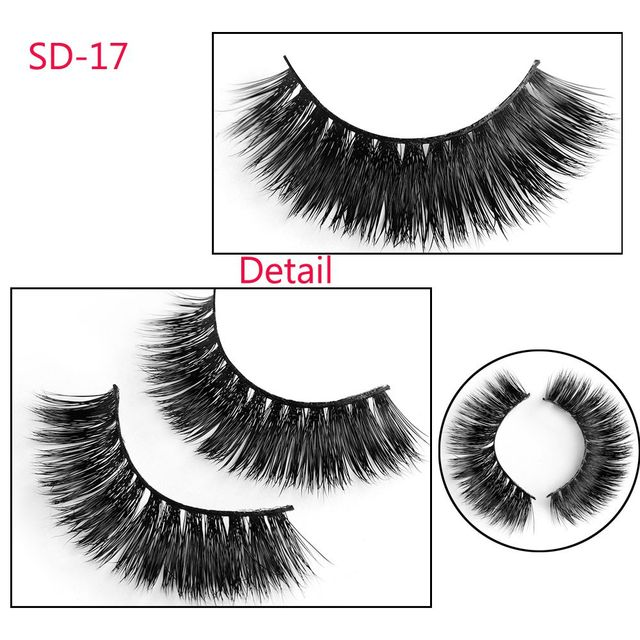 3D Thick Mink Hair False Eyelashes Handmade Soft Cross Wispy Fluffy Natural Full Strip Fake Lashes Extension Makeup Beauty Tools False Eyelashes