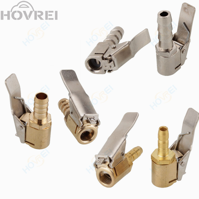 8mm Car Truck Air Pump Chuck Tire Inflator Valve Connector Tyre Valve Clip Brass